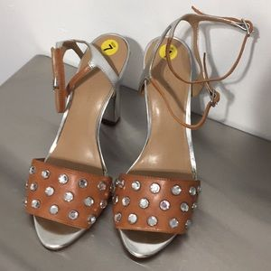 BananaREPUBLIc leather mirrorheel crystalSTUDS 👠